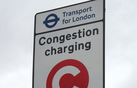 Congestion Charge sign in London